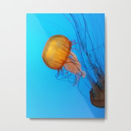Golden Jellyfish Metal Print