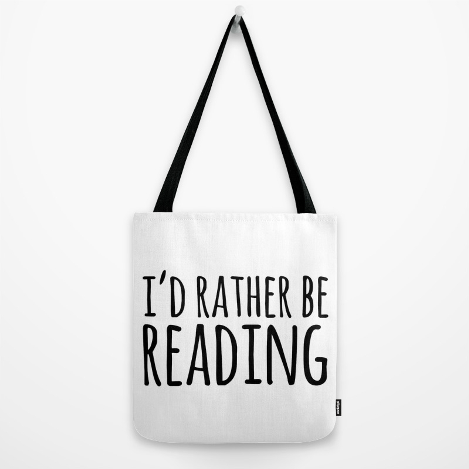 I/'d rather be reading tote customized tote bag IRBRT