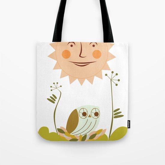Owl sun Tote Bag