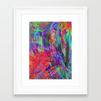 psych Framed Art Prints featuring PSYCH by Mary Counts