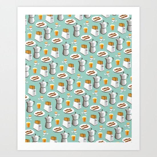 Happy breakfast! Art Print