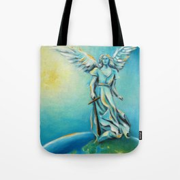 Archangel Michael - Hand painted Angel Art Tote Bag