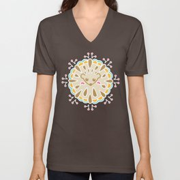Hedgehog Paisley_Colors and Cocoa Unisex V-Neck