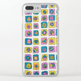 patterns VG-106 Clear iPhone Case
