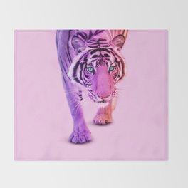 COLOR TIGER Throw Blanket