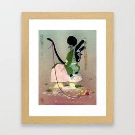 Mu Guai hates Cats Framed Art Print