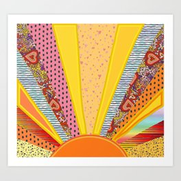 Sun Patterns Art Print