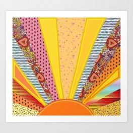 Sun Patterns Art Print