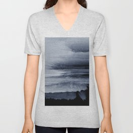 Abstract black painting 2 Unisex V-Neck