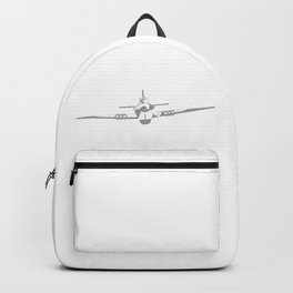 Aircraft In Halftone Backpack
