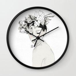 Flowers crown Wall Clock