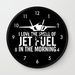 "F-35 Lightning II ""I love the smell of jet fuel in the morning"" Wall Clock"