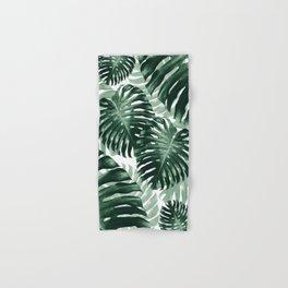Tropical Monstera Jungle Leaves Pattern #1 #tropical #decor #art #society6 Hand & Bath Towel