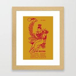Hot Mustard Framed Art Print