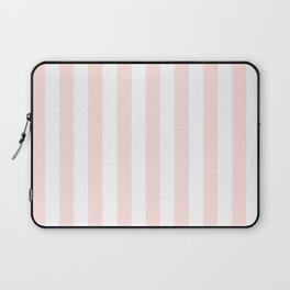 Narrow Vertical Stripes - White and Pastel Pink Laptop Sleeve