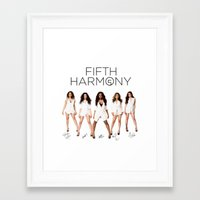 fifth harmony Framed Art Prints featuring Fifth Harmony - signatures by xamjx3