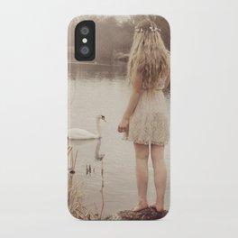 The swan fairy iPhone Case