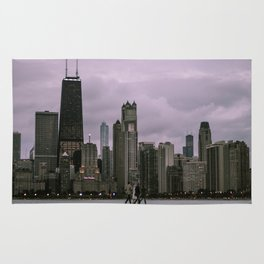 Purple Chicago Evening Rug
