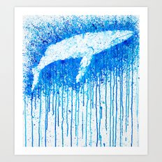 Solitude Whale Art Print