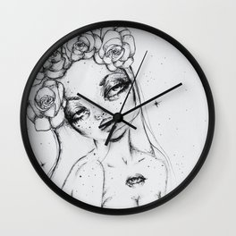 The Floral Deity Wall Clock