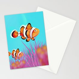 Clown Fish Aquarium Stationery Cards