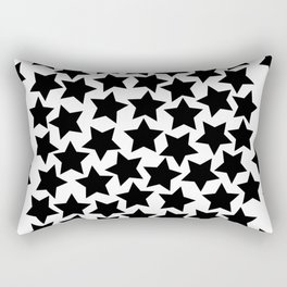 Lots of Black Stars Rectangular Pillow