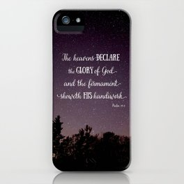 The Heavens Declare the Glory of God iPhone Case