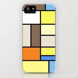 The Colors of / Mondrian Series - To toro - Miyazaki iPhone Case