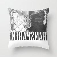 transparent Throw Pillows featuring Transparent by GarthIvan