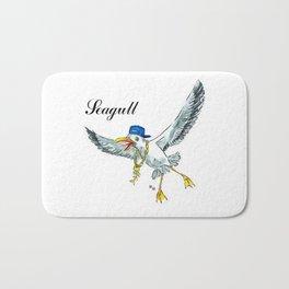 Funny seagull Bath Mat