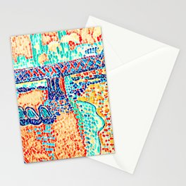 Novelty Modern Abstract Art Deco Multi Color Stationery Cards