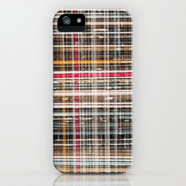 structure with red lines iPhone Case