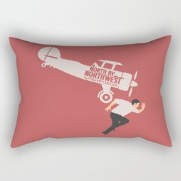 North by northwest, Alfred Hitchcock minimal movie poster, thriller, Cary Grant, Eva Marie Saint Rectangular Pillow