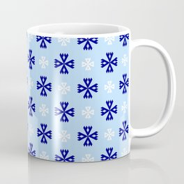 geometric flower 94 blue and white Coffee Mug