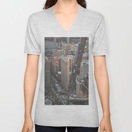 Flatiron Building Unisex V-Neck