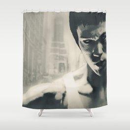 Martial Arts Power Shower Curtain