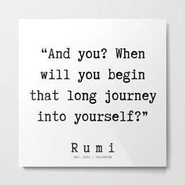52   Rumi Quotes    190921 Metal Print