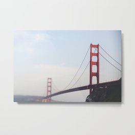 Golden Gate at dusk Metal Print