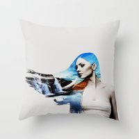 frozen Throw Pillows featuring Frozen by EclipseLio