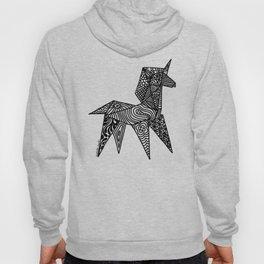 Unicorn Origami Illustration Hoody