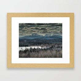 Spring snow on Mount Katahdin Framed Art Print