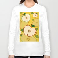 apple Long Sleeve T-shirts featuring apple by vitamin