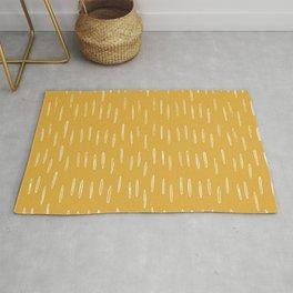 Raindrop Abstract Boho Pattern, Yellow Rug