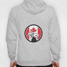 Canadian Handyman Canada Flag Icon Hoody
