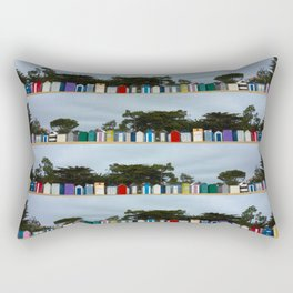 huts on the beach Rectangular Pillow
