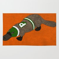 platypus Area & Throw Rugs featuring Platypus by subpatch