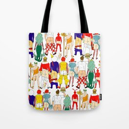 Fast Food Butts Mascots Tote Bag