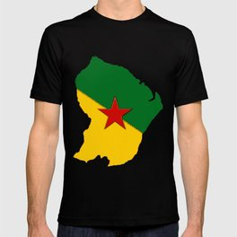 French Guiana Map with French Guianan Flag T-shirt