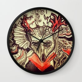 """""""Day of the Dead Animals, Deer"""" Wall Clock"""
