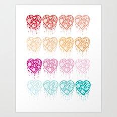 Heart Catcher - Fade Art Print